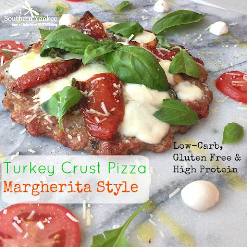 Turkey Crust Pizza Margherita Style - Low Carb/ High Protein