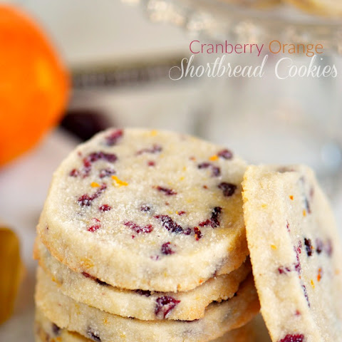 Cranberry Orange Shortbread Cookies