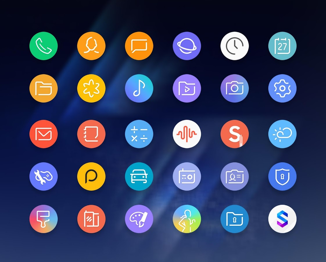Delux UX Pixel - S8 Icon pack Screenshot 0