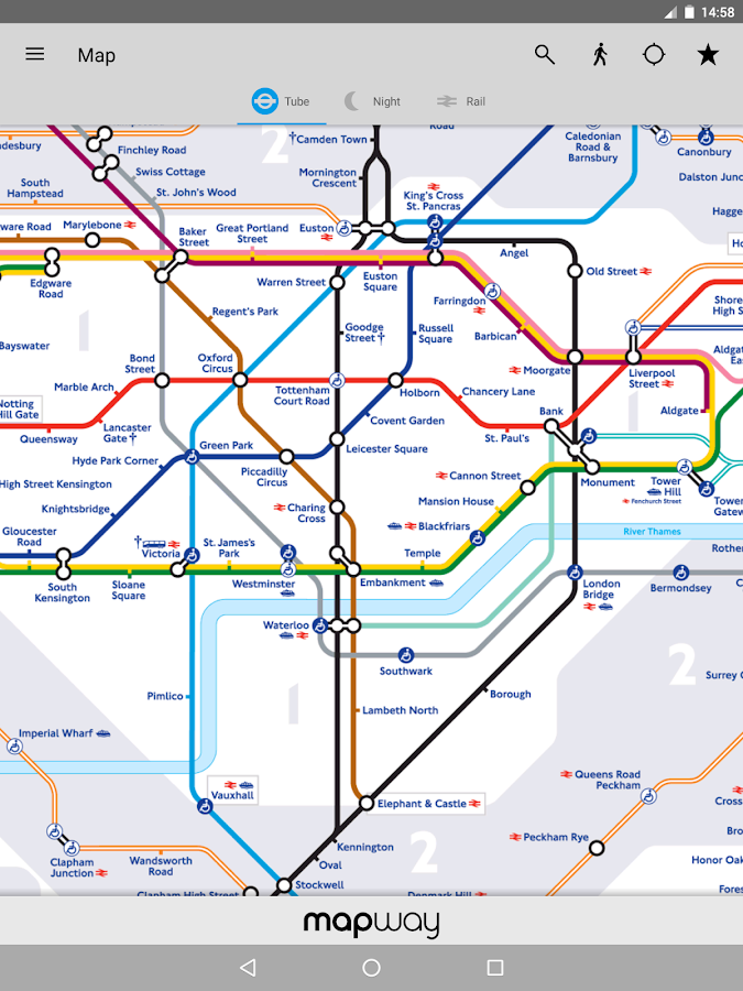 Tube Map - TfL London Underground route planner – Android Apps on ...