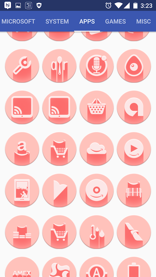 Pink Multilauncher Icon Pack Screenshot 10