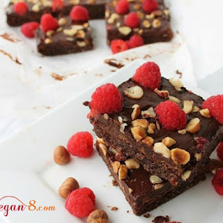 Chocolate Hazelnut Raspberry Bars