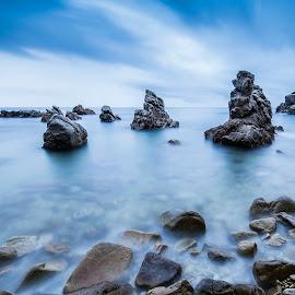 by David Sangüesa - Landscapes Beaches ( shoreline, sunrise, beach, seascape, landscape )