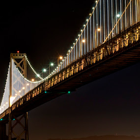 San Francisco Bay Bridge's New Lights by George Krieger - Buildings & Architecture Bridges & Suspended Structures ( landmark, travel, bridge )