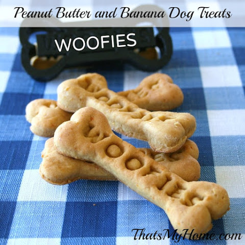 Peanut Butter and Banana Dog Treats