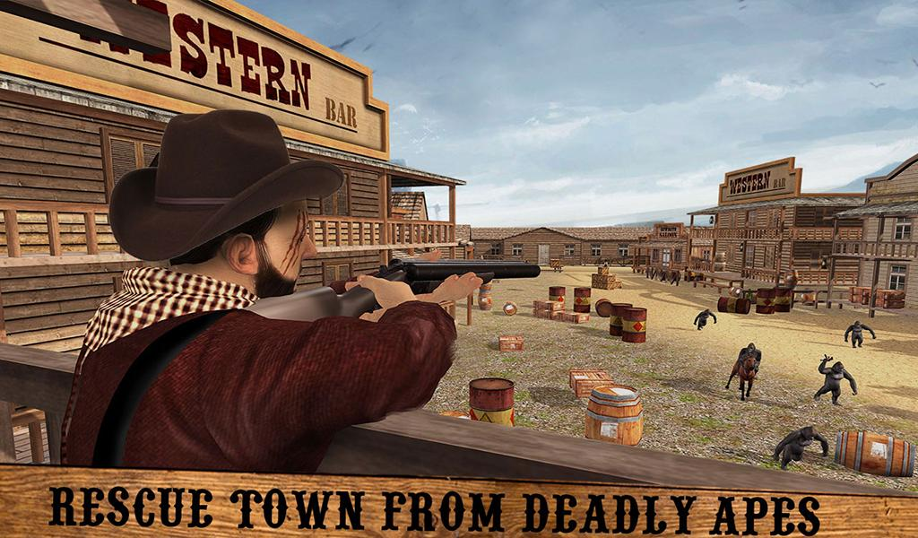 Affen Alter gegen Wild West Cowboy: Überleben Spiel android spiele download