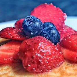 vegan pancakes by Michael Karakinos - Food & Drink Plated Food