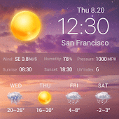 Free Clock & Weather Widget - Dawn APK for Windows 8