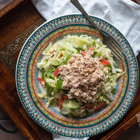 Paleo Lemon Tahini Tuna Salad