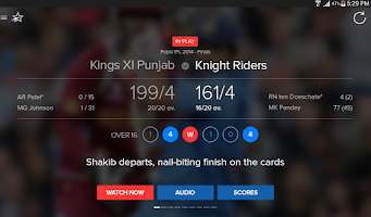 Screenshot of Star Sports Live Cricket Score