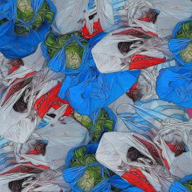Shopping Bags by Roy Branford - Digital Art Abstract ( abstract, digital art, topaz labs, bags, photoshop )