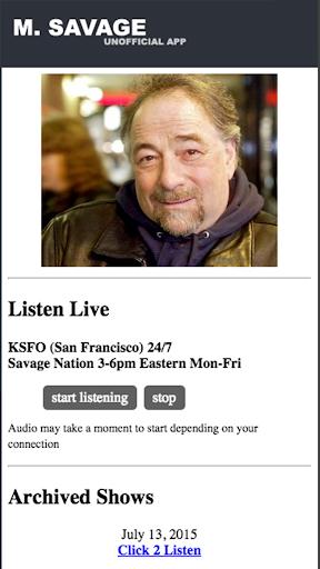Michael Savage - Savage Nation - screenshot