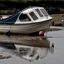 Norfolk boat 19 by Michael Moore - Transportation Boats