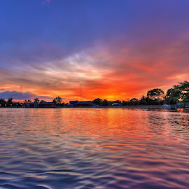Amphawa Sunset by Mikhael Yonas - Landscapes Sunsets & Sunrises ( amphawa, sunset, delta, landscape, firefly )