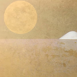 SandStorm by Katherine Rynor - Digital Art Abstract ( abstract, sand, texture, wall, sun )
