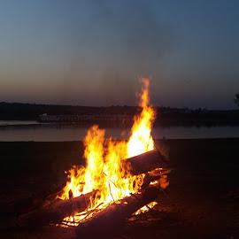 Night holidays flames :) by Nicoleta Nastasa - Public Holidays July 4th ( fire, night, flames )