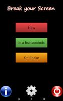 Screenshot of Cracked Screen Prank