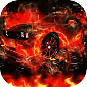 Car on fire live wallpaper APK for Ubuntu