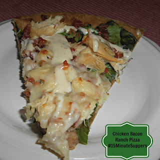 Chicken Bacon Ranch Pizza #15MinuteSuppers