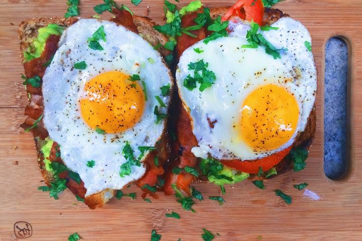 Bacon Avocado and Tomato Toast