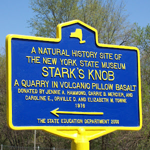 A Natural History Site of The New York State Museum Stark's Knob A Quarry in Volcanic Pillow Basalt Donated by Jenny A. Hammond, Carrie B. Mercier and Caroline E., Orville D. and Elizabeth M. Towne ...