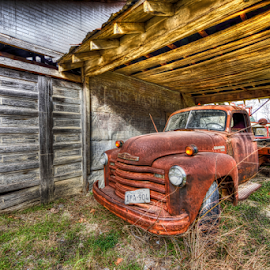 Keep On Truckin' by Kent Moody - Transportation Automobiles ( vintage, chevrolet, texas, chevy, rural,  )