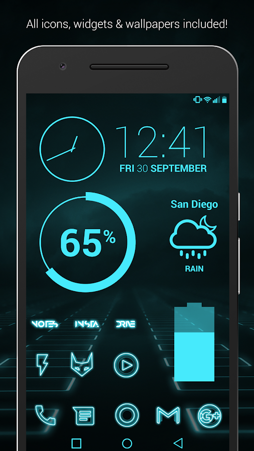 The Grid - Icon Pack (Pro Version) Screenshot 1