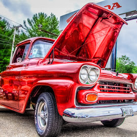 Littel Red by Chris Cavallo - Transportation Automobiles ( truck, car show )