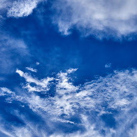 Mostly Blue by Svemir Brkic - Landscapes Cloud Formations ( sky, blue, white, clouds, day,  )