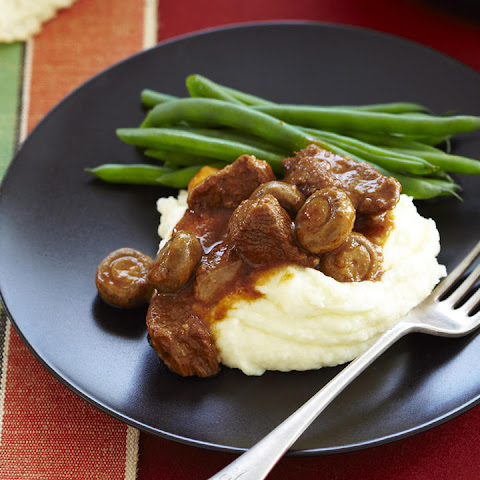 Braised Steak and Mushrooms
