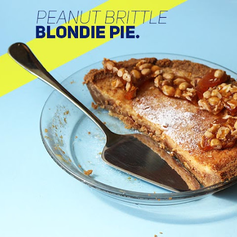 Peanut Brittle Blondie Pie