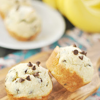 Cream Cheese Banana Chocolate Chip Muffins