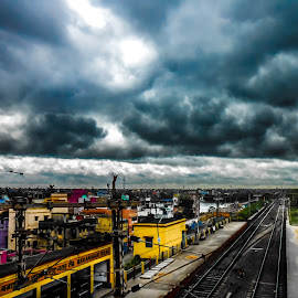 Before the rain.... by Avik Mukhopaddhay - Landscapes Cloud Formations ( cloud formations, clouds, rainy day, monsoon, nature, cloudscape, landscape, city skyline )