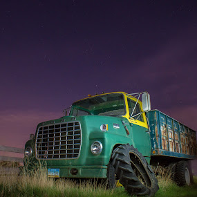 Night over the Truck by Dustin White - Transportation Other ( pickup, truck, stars, night, ford,  )