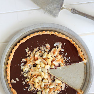 Dark Chocolate, Coconut & Macadamia Nut Tart