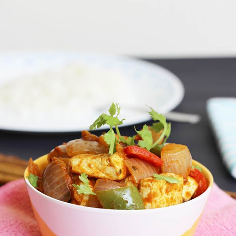 easy tofu stir fry recipe - tofu stir fry in Indian style
