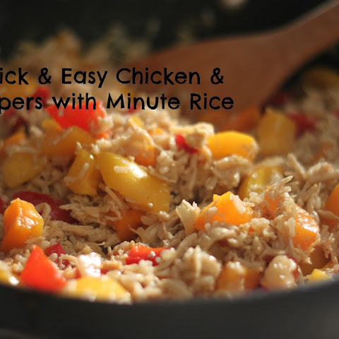 Quick and Easy Chicken and Peppers with Minute Rice