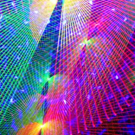 Florescent webs by Jim Barton - Abstract Patterns ( webs, laser light, colorful, light design, florescent webs, laser design, laser, laser light show, light, science )
