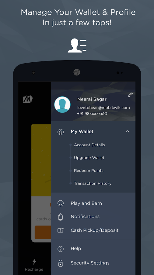 Recharge, Bills, Wallet, Bus Screenshot 5