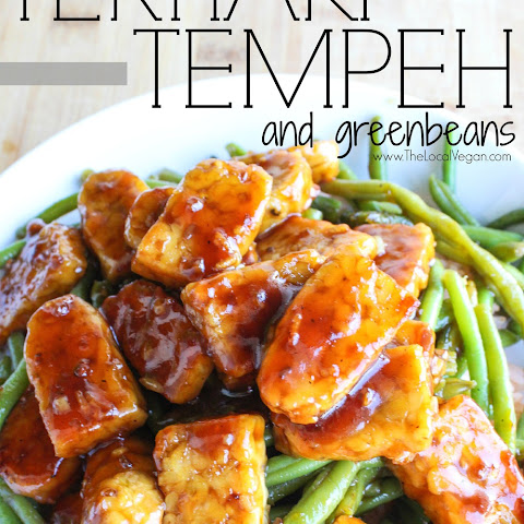Teriyaki Tempeh and Green Beans