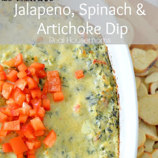 15 Minute Jalapeno Spinach & Artichoke Dip