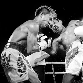 Ouch! by Kim Johnson - Sports & Fitness Boxing ( punch, fight, hit, boxer, combat, boxing )