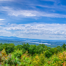 View from the Castle In The Clouds by Chris Cavallo - Landscapes Mountains & Hills ( view, mountains, panorama, panoramic, lakes, scenic, trees,  )