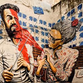 No Selfies! by Richard Michael Lingo - Artistic Objects Signs ( artistic objects, signs, graffiti, selfies, cuba )