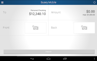 Screenshot of Busey Mobile