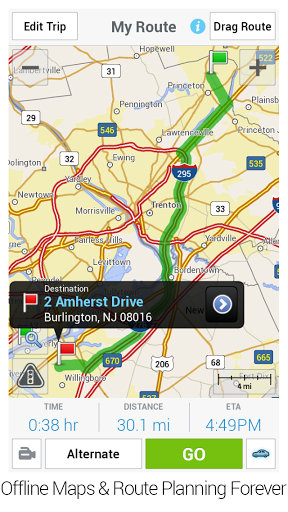 CoPilot GPS - Navigation App Screenshot