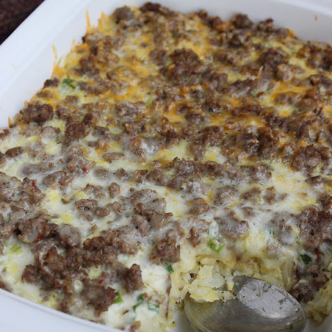 Egg, Sausage & Hashbrown Breakfast Casserole
