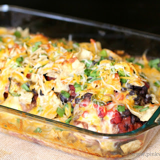 Southwest Cheesy Chicken Casserole Dish