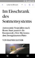 Screenshot of az Aargauer Zeitung E-Paper