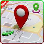 Share Location Driving Route Icon